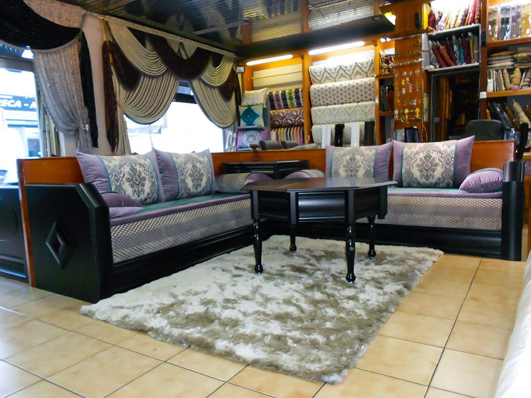 Salon bomb simple noir liquidation salon marocain for Salon liquidation