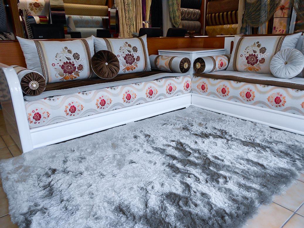 Decoration salon marocain moderne 2016 for Salon marocain blanc