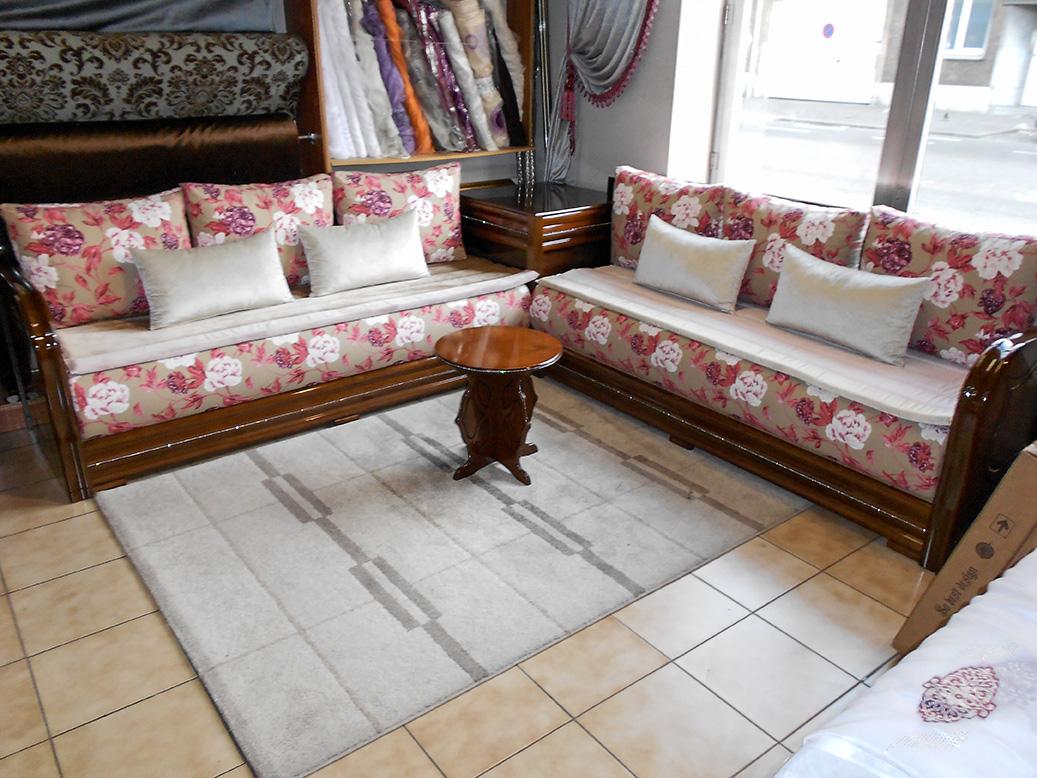 Salon complet modèle Diamond brun | Salon marocain