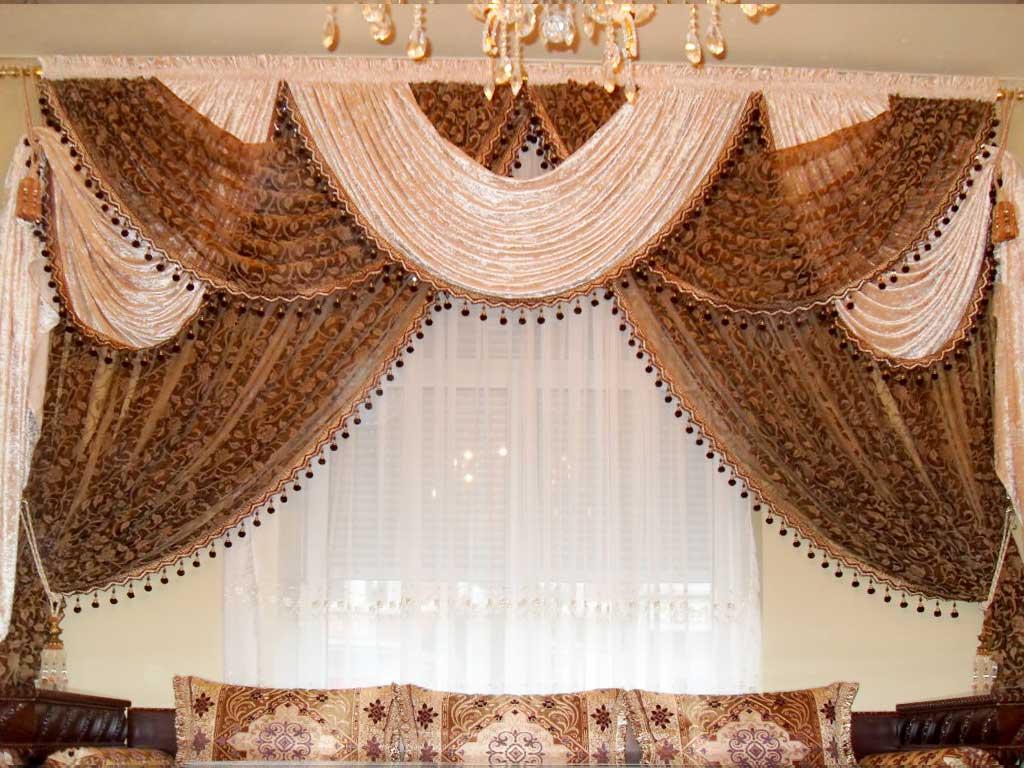 Rideaux salons marocains voilage - Poser des anneaux de rideaux ...