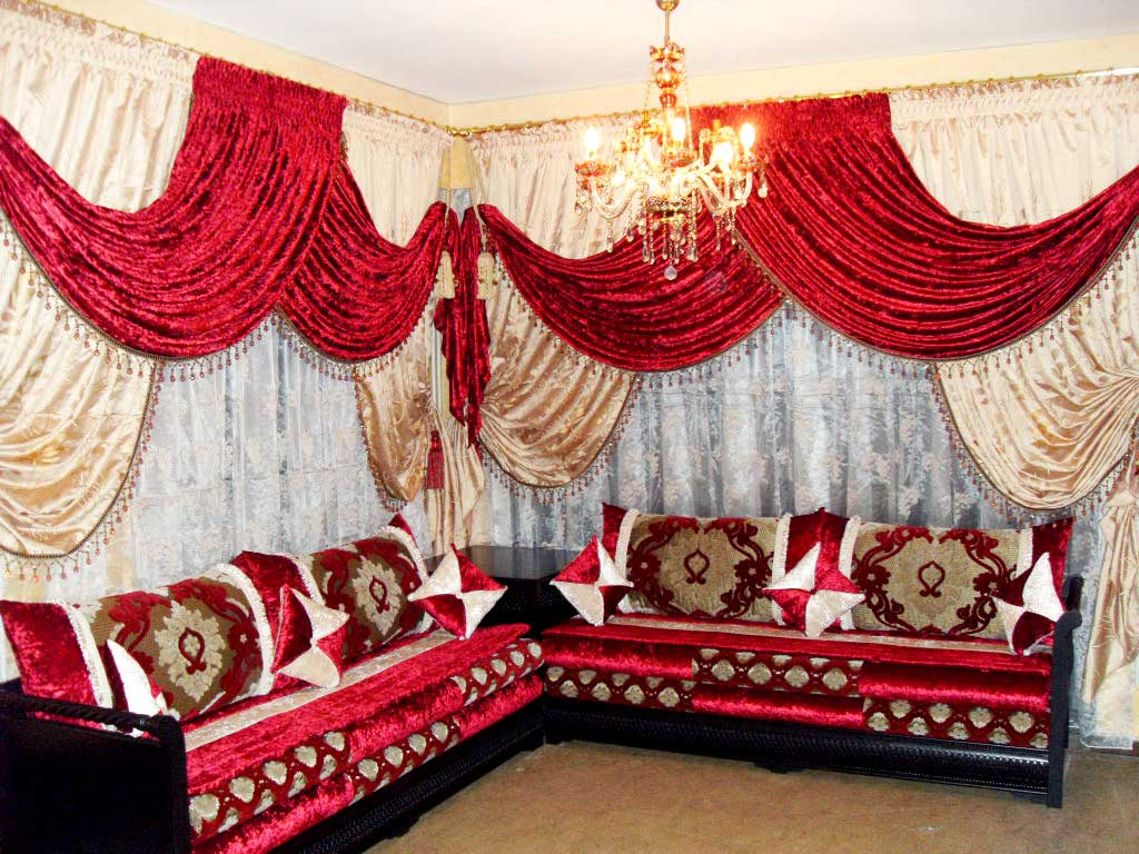 rideaux salons marocains voilage. Black Bedroom Furniture Sets. Home Design Ideas