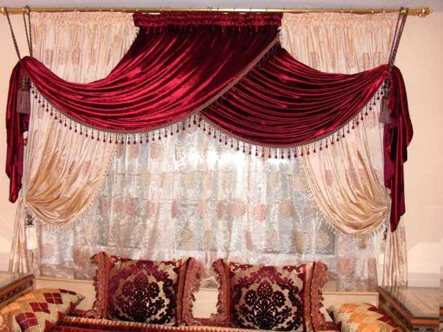 Rideaux salons marocains voilage - Deco rideaux pour salon ...